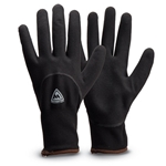 Thermal coated gloves keep your hands warm' dry and offer excellent dexterity during everyday jobs. Sandy nitrile dipped palm and knuckles are water resistant and provide a strong grip in wet' greasy and oily conditions. The acrylic terry lining keeps ...