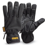 These lightweight gloves offer superior comfort and strength—ideal for milder winters. The fleece outer shell is wind- and water-resistant. Gloves feature synthetic leather fingertips and palm overlays for enhanced grip and durability. Machine washable. Sold by the pair.