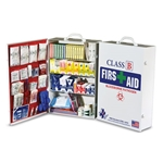 Kits contain the items you need to comply with ANSI standards. Class B first aid kits and stations are for higher-risk environments. Comes as a 4-shelf steel cabinet you can hang in your facility. Keep your first aid kits fully ...