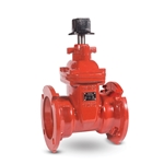 These high-quality valves are ideal for fully open or closed service in water and sewage disposal applications. They feature an epoxy-coated ductile iron body and bonnet with a stainless steel stem. The wedge consists of a ductile iron base with ...