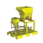 Scaletron VMF-90F Volumetric Screw Feeder Skid System w/ Wetting Cone & Loss-in-Weight Control' Powder-Coated Steel