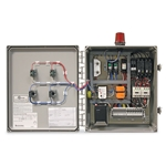 These durable' high-quality pump control panels include everything you need to operate your new or existing pump station. Panels include contactors with circuit breakers (1-PH models)' as well as HOA switches' red alarm beacon' 85 dB horn' lead/lag selector switch' ...