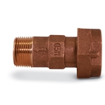 A.Y. McDonald Meter Coupling with Single Check Valve' 5/8 x 1/2