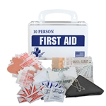Certified Safety 10-Person First Aid Kit' Plastic Container