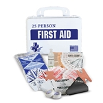 Certified Safety 25-Person First Aid Kit with Eyewash