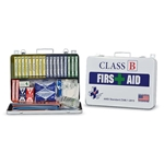 Class B First Aid Kit, Metal Case' White