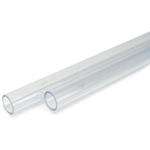 "Schedule 40 Transparent PVC Pipe' 1-1/2"" x 10' (Cut into 2 x 5' Pieces)"