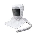 Single-bib disposable hood is made of a lightweight poly-coated Tyvek material that's flexible, splash-resistant and seals in the air flow. The downtube and head suspension are both completely integrated in the hood, and the large lens provides increased visibility. Hood ...