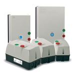Protect your motors from overload with these pre-wired, factory-assembled starters. They feature IEC magnetic starters, adjustable bimetallic overload relays and electrically isolated NO/NC auxiliary contacts. Reset feature can be set for manual or automatic operation. Starters offer 120V control voltage, ...