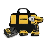 Powerful and versatile, the 20V MAX XR impact wrench delivers high torque and multi-speed control for a variety of applications. Anvil secures with a detent pin to ensure superior retention. An LED light with a 20-second delay aids visibility. Kit ...