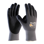 """MaxiFlex gloves feature an exceptionally thin lightweight design. They have a breathable microfoam nitrile-dipped palm for superior grip and abrasion resistance. Natural """"hand at rest"""" fit reduces hand fatigue for all-day comfort. MaxiFlex Ultimate gloves have a seamless knit nylon ..."""
