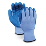 Latex-coated gloves are an excellent alternative to leather gloves. The seamless 10-gauge knit shell liner with blue latex coating provides moderate cut and excellent abrasion resistance. Crinkle-textured palms and fingers provide a resilient grip in wet, greasy and oily conditions. ...