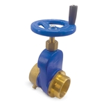 "Brass Hydrant Shutoff Valve with Hand Wheel, 2-1/2"" NST"