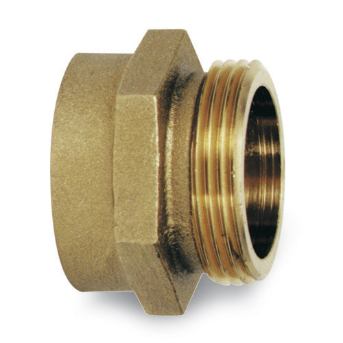 """x 2-1//2/"""" NST M F Fire Hydrant Brass Adapter 2/"""" FPT"""