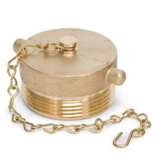 "Brass Plug with Chain, 1-1/2"" NST"