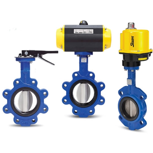 Sharpe® Lug Style Butterfly Valve' Pneumatically Actuated' 6""