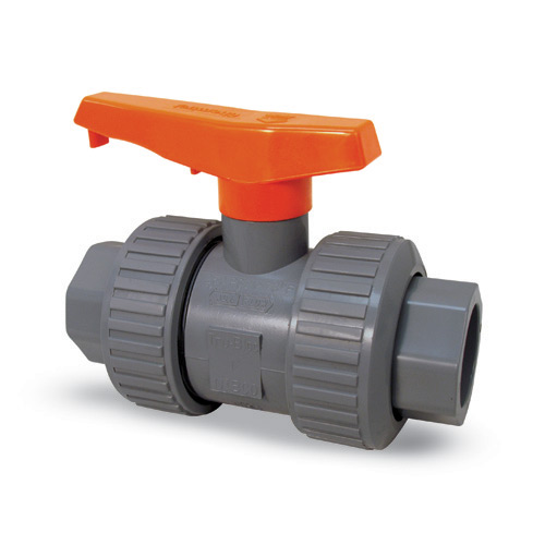 Chemtrol True Union Ball Valve 3/4 in SOC/THRD' CPVC/FKM' MB930U8
