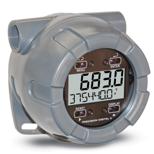 Precision Digital Vantageview PD6730 Flow Rate Monitor/Totalizer w/ Pulse Input' 4-20 mA Output' 9-30 VDC Loop Powered