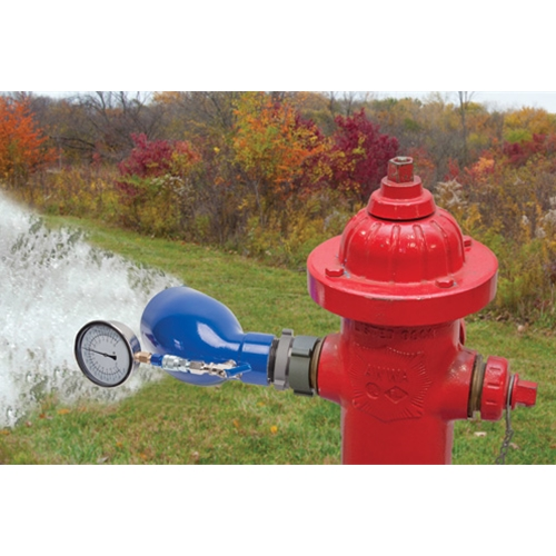 "USABlueBook® 2.5"" Flow Testing Diffuser w/ 100 PSI/1680 GPM Gauge"