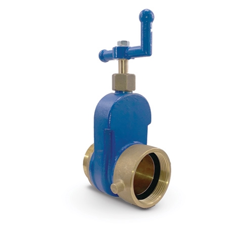 "Brass Hydrant Shutoff Valve with Crank Handle, 2-1/2"" NST"